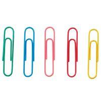 Listové spony 33 mm - mix farieb /100