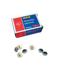 Pripínačky malé 10/8 mm, niklované