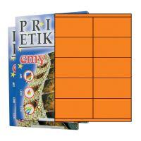 Etikety PRINT 105 x 57 reflexné oranžové - výpredaj