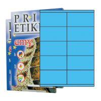 ETIKETY PRINT 105 x 57 svetlomodré - akcia