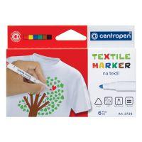 Značkovač na textil CENTROPEN 2739 sada 6 farieb