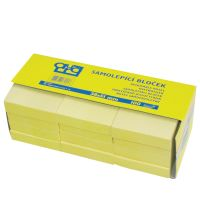 Bloček samolepiaci 38x51 AURO, žltý, 100 l.