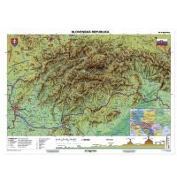 Mapa SR geografická - dopredaj