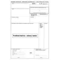Sprievodné osvedčenie EUR.1 1 - 3 listy