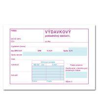 Výdavkový pokladničný doklad A6 dvojfarebný – 100 listov