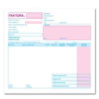 Faktúra – daň. doklad – 21x20cm – 100 listov – dvojfarebná – samoprepis