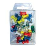 Pripínačky do korkových tabúľ, mix farieb / 30