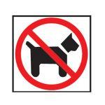 Etikety Info- Zákaz vstupu so psom
