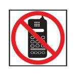 Etikety Info- Zákaz používania mobilu