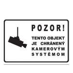 Etikety Info- Objekt chránený kamerou