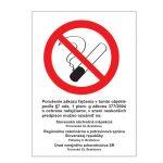 Etikety Info- Zákaz fajčiť (Z.z. 377/2004)