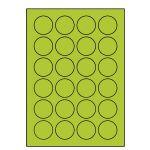 Etikety PRINT kruh 40 reflexné zelené