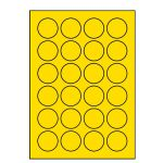 Etikety PRINT kruh 40 žlté