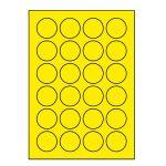 Etikety PRINT kruh 40 reflexné žlté