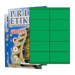 Etikety PRINT 105 x 57 zelené - akcia