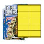 Etikety PRINT 105 x 57 žlté - akcia