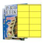 ETIKETY PRINT 105 x 57 reflexné žlté - akcia
