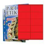 Etikety PRINT 105 x 57 reflexné červené - akcia