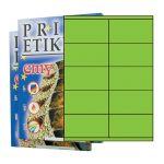 Etikety PRINT 105 x 57 reflexné zelené - akcia