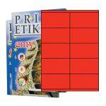 Etikety PRINT 105 x 57 červené - akcia