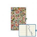 Notes PB SMALL s gumičkou -kvety