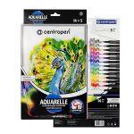 Súprava akvarelových značkovačov CENTROPEN 9383/14 so štetcovým hrotom