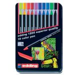 edding 1200 color pen sada 10 farieb