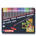 edding 1200 color pen sada 20 farieb