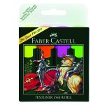 Zvýrazňovač FABER-CASTELL TEXTLINER 1546 sada 4 farieb