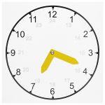 Školské hodiny, čierno-biele