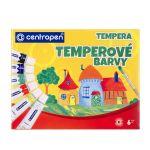 Temperové farby Centropen  9550/6 farieb